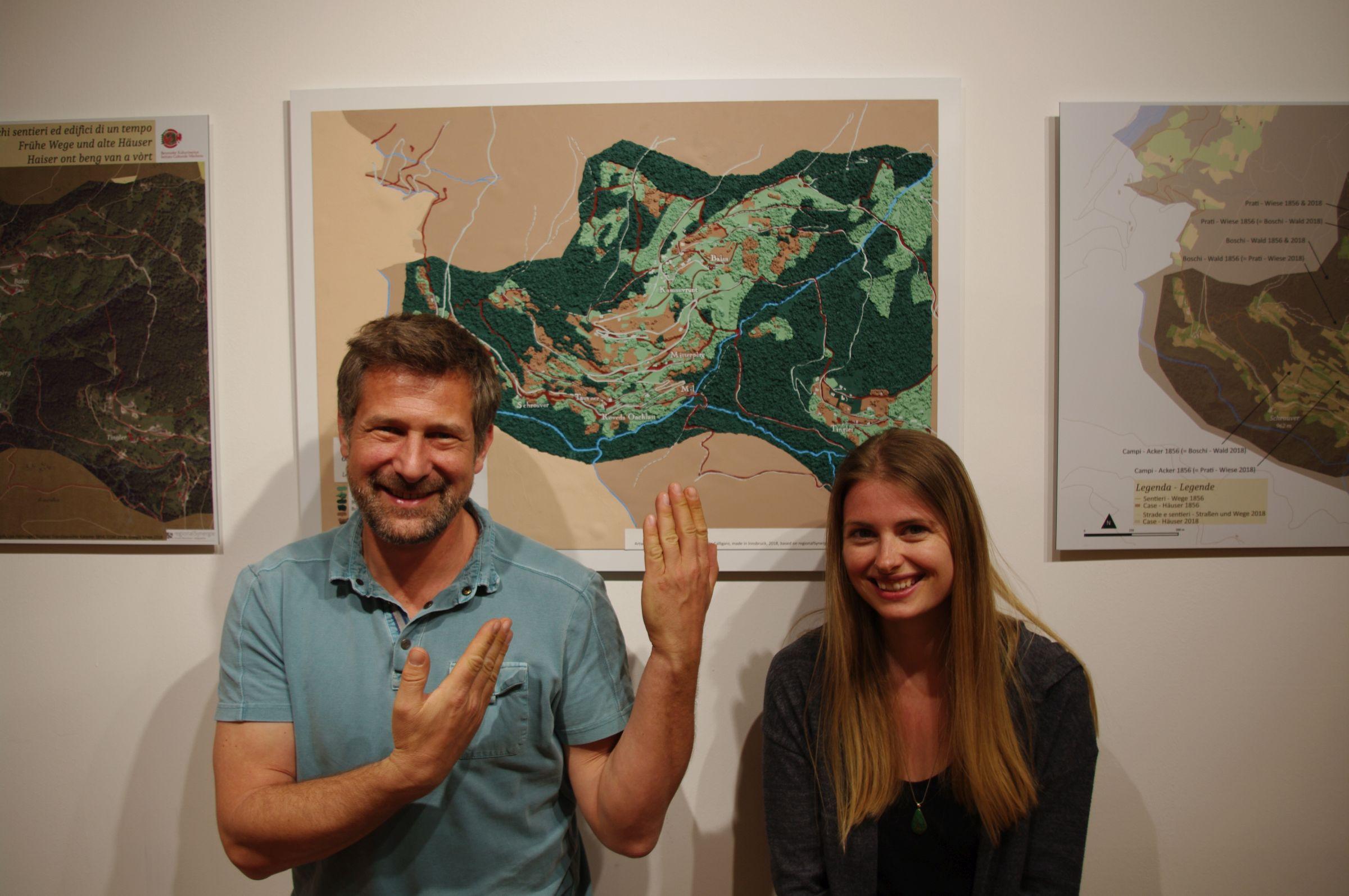 Michael und Lisa mit dem Kunstwerken